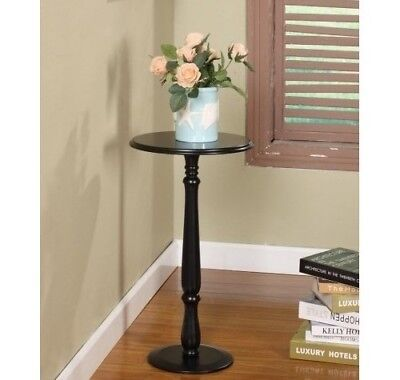 Pedestal Plant Stand Decorative Wood Black Table Round Wooden Sofa Accent Side