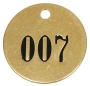 Brass Number Tags