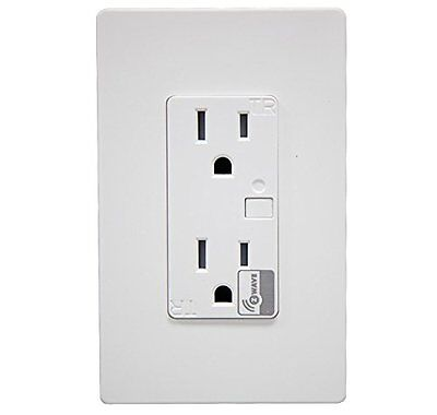 Z-Wave Outlet Smart Switch 15A Receptacle Wireless Control for Home Automation