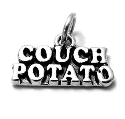 925 Sterling Silver Couch Potato Charm