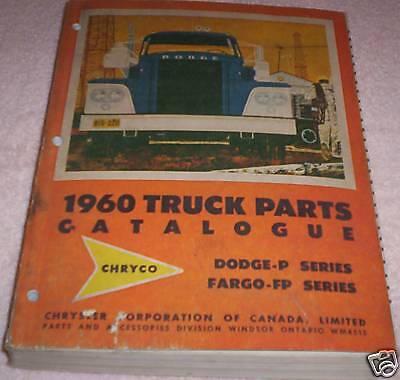1960 Dodge-Fargo Canada Truck Parts Book Manual Catalogue Factory Original OEM ()