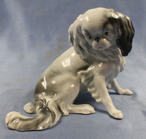 Japan chin pekingese Figurine porcelain Pfeffer gotha1900 dog pekinese