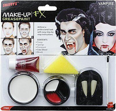SMIFFYS Smiffy's Set Make up da Vampiro con Denti, Spugna, Trucco per Il (z7l)