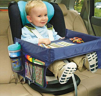 Go Play Car Seat Tray Travel Storage Organiser Baby Boy Girl Toy Food Holder Eat