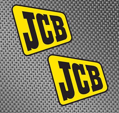 2x Jcb Equipment Size Large 6 Decals Stickers Backhoe Skid Steer Excavator