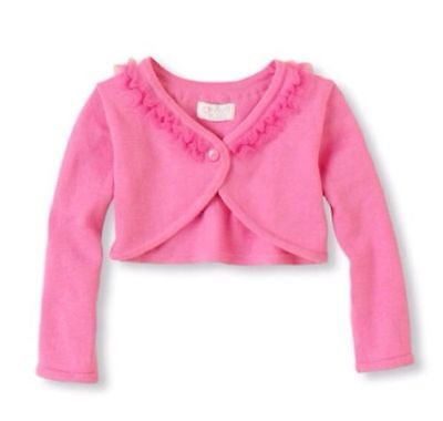 NEW! Baby Girls TCP Cardigan Sweater Button Shirt 4T Pink LS Gift! Pink Dressy