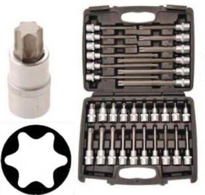 Innen Torx-Bit-Nüsse 32 tlg Steckschlüssel Bits Nuß Einsatz Werkzeug T20-T70 Set