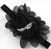 Black Flower Headband