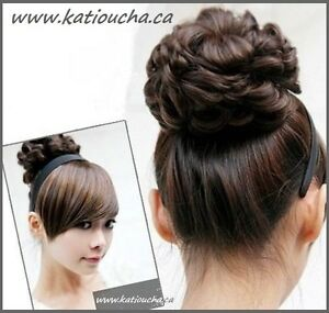 Wavy Curly Hair Bun Cover Hairpiece Scrunchie,Chignon diam.10cm St. John's Newfoundland image 8