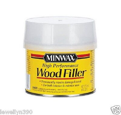 MINWAX High Performance WOOD FILLER Permanently repairs damaged wood 6oz NEW!