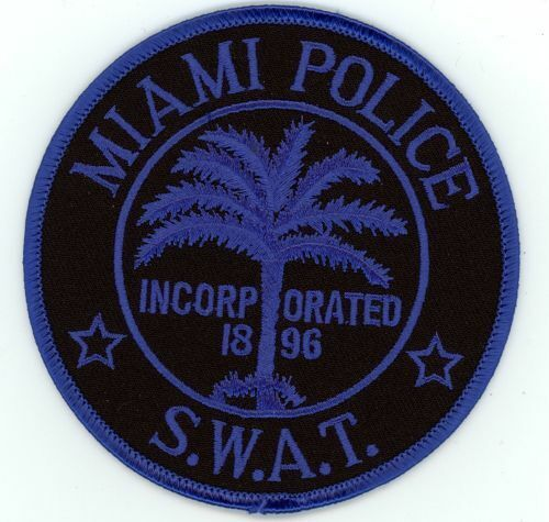 MIAMI POLICE SWAT SUBDUED FLORIDA FL NEW PATCH SHERIFF