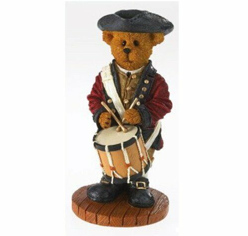 NEW Boyds Bears Figurine Williamsburg Nathaniel Making History Patriotic History