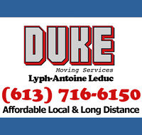 Duke Movers - Affordable Local & Long Distance - (613) 716-6150