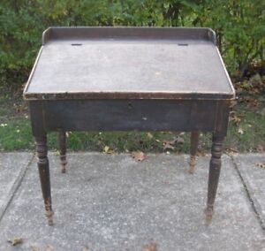 Antique Pine Postmaster Desk from Thorold Ont.