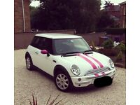 Stunning white & pink Mini Cooper - quick sell needed!
