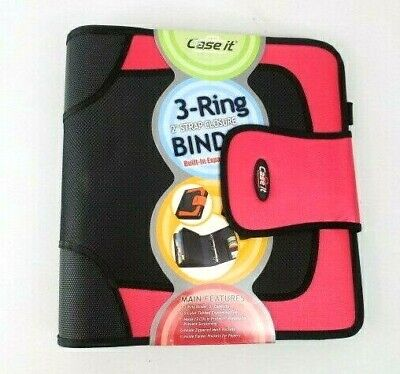 Case-it Open Tab Closure 2-inch Binder Cds Tab File Red School Vintage S-815
