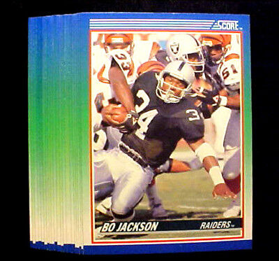 Footballs Bulk Buy (BO JACKSON ~ 20 CARD LOT ~ 1990 Score #10  Card ~~~~ BUY MORE LOTS AND SAVE)