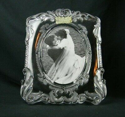 Mikasa Princess Glass Frame Wedding Photo Frosted Scrolls Holds 5x7 Picture