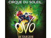 2 Tickets for Cirque Du Soleil: OVO