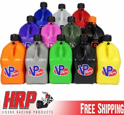 VP Racing Fuel Jugs Square 5 Gallon (Specify #, Hose & Color) Gas Can