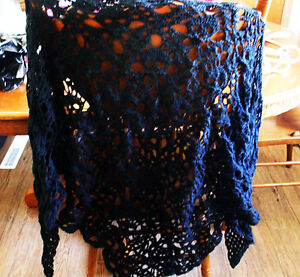 GOTHIC  HAND MADE  SKELETON SHAWL /SARANG