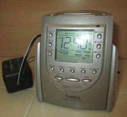 Timex NOAA Weather Nature Sound Alarm Clock Battery & Electric T154T Travel