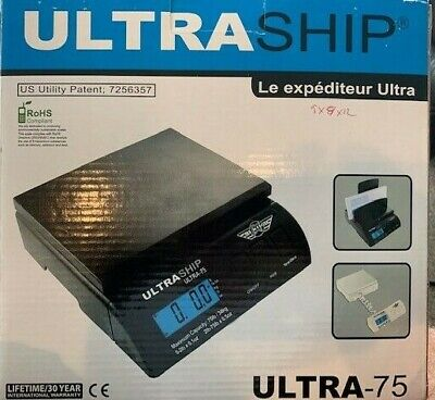 My Weigh Ultraship 75 Lb Electronic Digital Shipping Postal Kitchen Scale