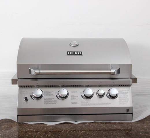 Duro Stainless Steel Built In Grill w/ Rotisserie Kit, Acces