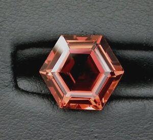 5-33-Carat-Custom-Cut-Peach-Red-Hexagon-Tourmaline-Gemstone-Gemstone