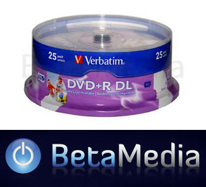 10 VERBATIM Blank DVD+R DL 8X Dual Layer 8.5GB DVD