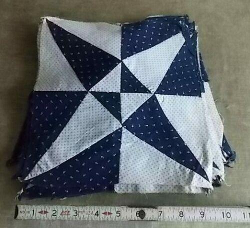 """Antique Crossed Canoes 10"""" Quilt Squares 23 Quilting Blocks-Indigo Blue & White"""