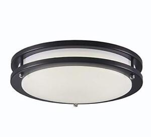 """New Years Blowout Clearance!! 12"""" 14"""" 16"""" Flushmount LED Fixtures-Black-3K and 5K"""