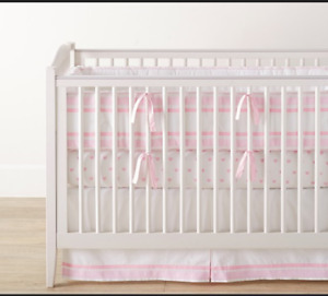 Pottery Barn crib bumper and Skirt