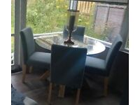 *** DINING TABLE & 4 CHAIRS ***