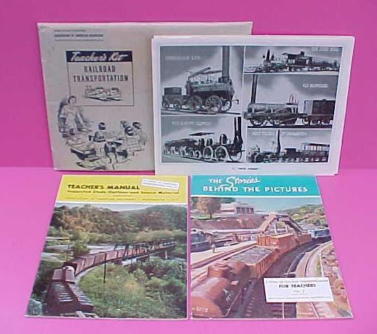 Rare 1959 RAILROAD TRANSPORTATION TEACHERS Kit 40 Photos / Washington DC