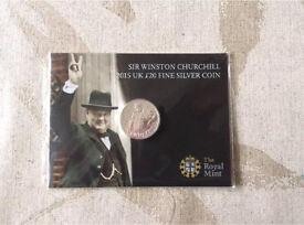 Nine £20 uk fine silver coins 2015