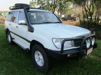 1999 Toyota Landcruiser FZJ105R GXL White 4 Speed Automatic Wagon Berrimah Darwin City Preview