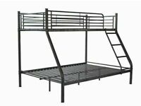 🔵💖🔴PREMIUM QUALITY🔵💖🔴TRIO SLEEPER METAL BUNK BED WITH MATTRESS SINGLE TOP DOUBLE BOTTOM