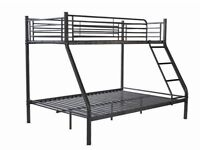 AMAZING OFFER- BRAND NEW HIGH QUALITY TRIO METAL BUNK BED WITH SEMI ORTHOPAEDIC MATTRESS