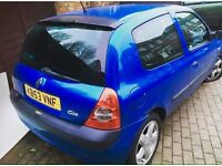 Clio 9 month Mot 12Month tax very reliable lady owners