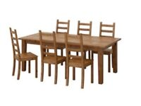 IKEA stronas 8 seater table and 4 chairs