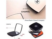 Chanel portable phone charger/power bank and compact mirror all in one