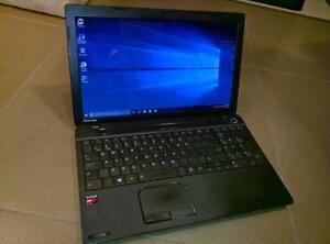 "Toshiba Satellite Laptop - 15.6"" Quad Core, SSD, 4GB, Windows 10"