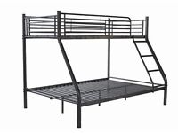 Bunk Bed - TRIPLE- with free Unused Top Mattress worth £60 - Bed Used under a year