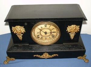 Antique New York Ansonia Cast Iron Mantle Clock Wantirna South Knox Area Preview