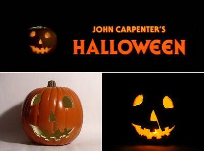 John Carpenter HALLOWEEN 1978 Jack-O'-Lantern Prop (Hand-Carved Foam Pumpkin 9