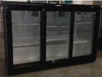 Tripple sliding door bar fridge / undercounter bottle cooler