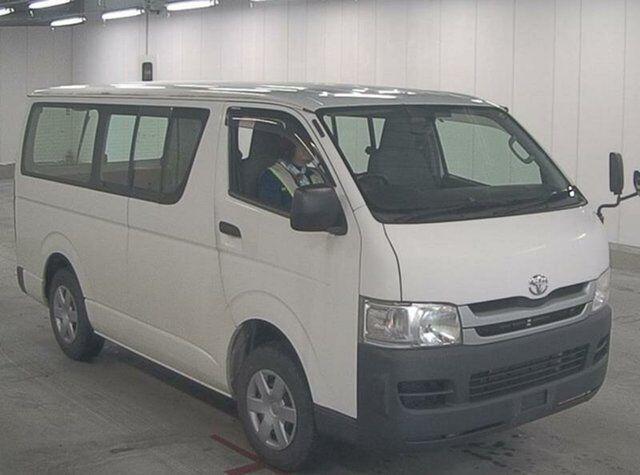 2008 Toyota Hiace Double Door 3 Seater White Automatic Van