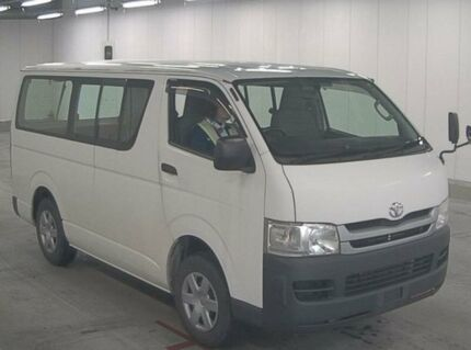 2008 Toyota Hiace Double door 3 seater White Automatic Van Burwood Burwood Area Preview