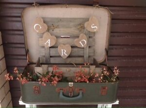 Vintage suitcase, box and card bunting Burleigh Waters Gold Coast South Preview